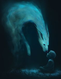 Proemio by ~Arsfeb on deviantART Creature only takes sinners, unpure. As they walk they pass windows or mirrors or portals, they don't know, and they see a creature come across a boy, like this, and it leaves him unharmed. Soldier realizes what it's teaching them about the beasts.