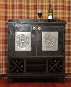 dry bar cabinets | Items similar to Cabinet, Liquor, Wine, Dry Sink, Wet Bar, Punched Tin ...