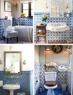 Azulejo Tile bathroom . portuguese style