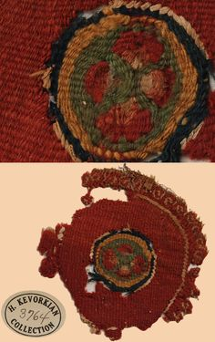 Origin: Persia Type: border fragment, Period: 1st to 5th Centuries Warp: Material: linen, tan, material Spin/Ply: 5-2 z spun Density: 25in.(=10cm) Weft: Material: wool, dyed, natural Persian Ancient Textiles - TextileAsArt.com, Fine Antique Textiles and Antique Textile Information