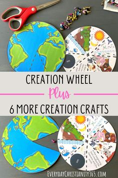 Cute Bible crafts about the 7 days of Creation that are perfect for kids! #creation #crafts Kids Bible Crafts, Creation Bible Crafts, Creation Activities, Bible Activities For Kids, Bible For Kids, Paper Crafts For Kids, Easy Crafts, Children Ministry, Youth Ministry