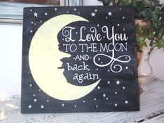 I love you to the moon and back nursery by deSignsOfExpression