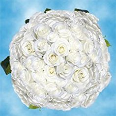 200 Fresh Cut White Roses for Valentine's Day   Tibet Roses   Fresh Flowers Express Delivery   The Perfect Valentine's Day Gift