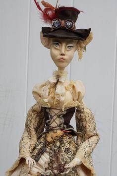 OOAK Custom Steam-punk Sphinx fantasy art doll.