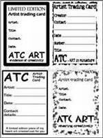 atc back design sheet no 4 artist trading cards and trading cards