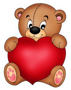 Teddy Bear with a Heart Teddy Bear Images, Teddy Bear Cartoon, Teddy Bear Pictures, Bear Photos, Cute Teddy Bears, Teddy Bear With Heart, Brown Teddy Bear, Cupid Drawing, Valentines Day Teddy Bear