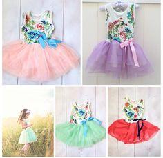 Girls Tutu Dress - Floral Girls Dress - Shabby Chic Dress - Girls Easter Dress - Birthday Dress - Summer Dress by IsabellaCoutureShop on Etsy https://www.etsy.com/listing/156023666/girls-tutu-dress-floral-girls-dress