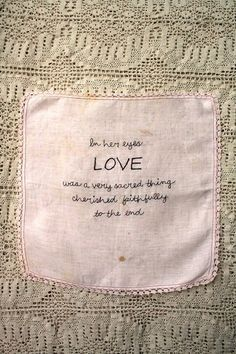 In her eyes LOVE was a very sacred thing by StitchasaurusRex, $ 45.00