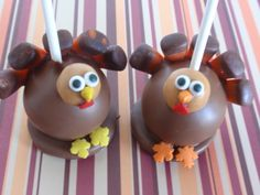 Thanksgiving Cake Pops | Thanksgiving Cake Pops 2010 - Dreamers Into Doers -- marthastewart.com