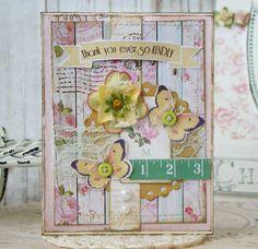 Thank You Ever So Kindly Shabby Chic Handmade Card