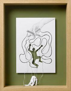 Esculturas de papel de Peter Callesen
