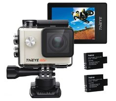 ThiEYE i60e 4K Sport Action Camera 60M Waterproof Wifi 12MP FHD 2 Inch Screen 170 Degree Lens 360 Degree Rotating Buckle Helmet DV Camcorder, 2 Batteries Included >>> Visit the image link more details. (This is an Amazon Affiliate link and I receive a commission for the sales)