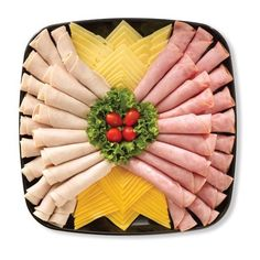Meat and cheese trays Meat And Cheese Tray, Meat Trays, Meat Platter, Food Trays, Sandwich Platter, Deli Platters, Deli Tray, Party Trays, Party Snacks
