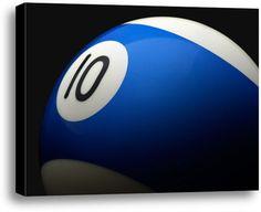 Blue 10.  #fathersday #fathersdaygiftidea #mensgifts #wallart #officedecor #giftideas #sports #billards #pool