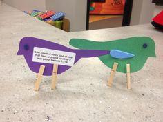 preschool/toddler craft for God made the birds