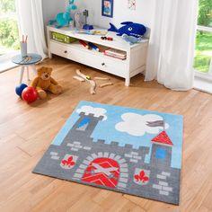 Charmant *Werbung | Kinderteppich Softvelours Ritterburg 100x100 Cm   Toller  Blickfang Für Das Kinderzimmer Kleiner Ritter