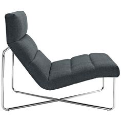 LexMod - Reach Lounge Chair in Gray