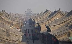 Ping yao, one of the oldest cities in china to still have its entire original wall