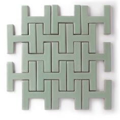 Chaine Homme tile by Fireclay Tile - interesting pattern - gorgeous mint green 3d Tiles, Wall Tiles, Tile Patterns, Textures Patterns, Color Patterns, Texture Sol, Fireclay Tile, Handmade Tiles, Tile Design