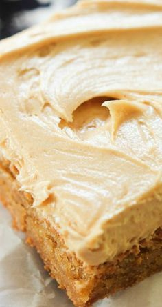 Peanut Butter Brownies ~ Perfectly soft, chewy and full of peanut butter flavor... The frosting is just amazing and can be used on many different desserts.