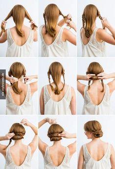 Bridal hairstyles with a step by step tutorial   Peinados de novia recogidos paso a paso clásicos y con estilo.