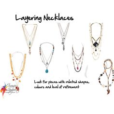 layering necklaces by imogenl on Polyvore featuring Melanie Auld, With Love From CA, Express, Henri Bendel, Zimmermann, Hipchik, Monsoon, Anaconda and D&G