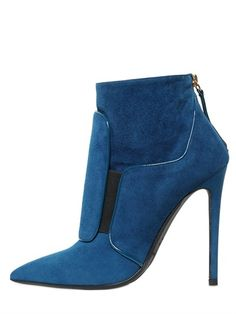 GIANMARCO LORENZI - 115MM PATCH SUEDE ANKLE BOOTS #beautyinthebag