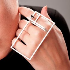 Galit Barak. Ring Black Onyx And Sterling Silver