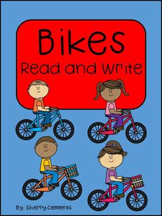Bikes Read and Write - Great for a reading comprehension check. Cute short story about bikes with related sentences to complete. Also great for introducing Close Reading - K, 1st, 2nd Reading comprehension $