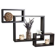 Living Room: DanyaB Intersecting Wall Shelf - Wayfair.com