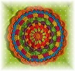 Cute free crochet mandala pattern (two different ones) and other free pattern (German)
