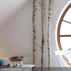 35 ideen f r birkenstamm deko bringen sie die natur in ihre wohnung deko. Black Bedroom Furniture Sets. Home Design Ideas