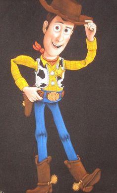 Disney toy story Woody black velvet oil by VelvetPaintings on Etsy, $130.00