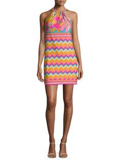 Trina Turk Vacaciones Shift Dress - Multi X-Large