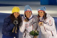 Kalla, Bjoergen, Weng medaljist in skiathlon Sotji 2014