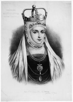 -Barbora Radvilaite Queen of Poland and Grand Duchess of Lithuania wearing her extraordinary pearls Pageant Crowns, Tiaras And Crowns, Poland History, Classic Paintings, Royal Jewels, My Heritage, Queen Bees, Vintage Photography, Headdress