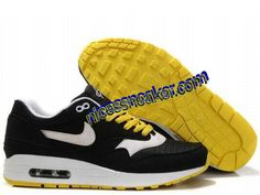 7e752c235983 Save Up To 65% Mens Nike Air Max 1 Black White Solar Flare White Shoes   Black  Womens  Sneakers