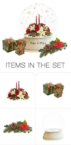 """Snowglobes:Christmas Flowers"" by rboowybe ❤ liked on Polyvore featuring art"