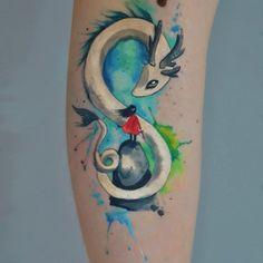 Znalezione obrazy dla zapytania watercolor dragon tattoo