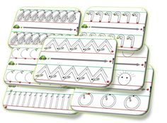 Fiches de gestes graphiques cursifs - La maternelle de Laurène