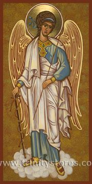 Guardian Angel by Joan Cole Religious Icons, Religious Art, Monastery Icons, Angel Protector, American Academy Of Art, Angel Aesthetic, Angels Among Us, Art Icon, Orthodox Icons
