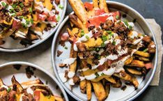 With bacon, nacho cheese sauce, and sour cream, these may be the most indulgent vegan fries ever.