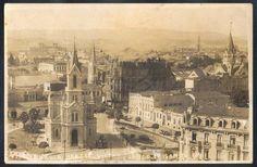 São Paulo - Vista do Largo Paisandú - Cartão Postal antigo original, editor não mencionado, não circulado