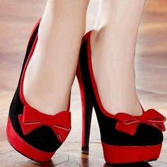 Fashion and Style: Red and black heels