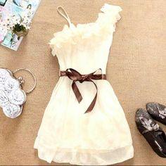 Sammy Dress - Stylish and Delicate Sweety Ruffles One-shouldered Chiffon Dress Looks Style, Looks Cool, Style Me, Look Fashion, Womens Fashion, Dress Fashion, Latest Fashion, Sweet Fashion, Female Fashion