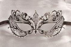 Luxury Filigree Metal Masquerade Mask - BERNICE