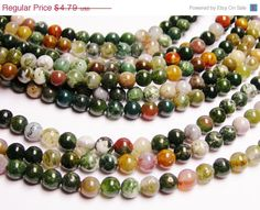 LATESHIPSALE Indian agate 6mm  round beads 62 by fallinlovegems, $4.07