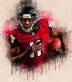 Julio Jones NFL Print poster, Personalized gift, Digital Download, Modern art print any room wall decor Contemporary Art PRINT