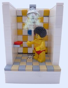 Disco Stu Getting Ready For A Night Out by MinifigNick, via Flickr