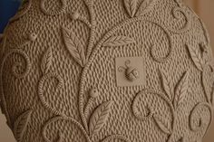 Natalia Sots texture leaves ladybug pottery ceramics clay